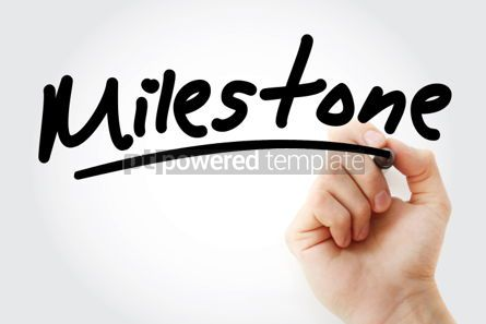 Business: Milestone text with marker #01327