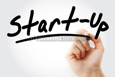 Business: Start up text with marker #01336