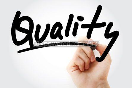 Business: Quality text with marker #01337