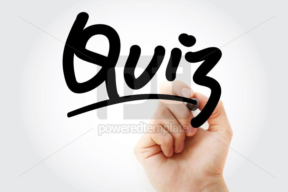 Quiz text with marker, 01342, Business — PoweredTemplate.com