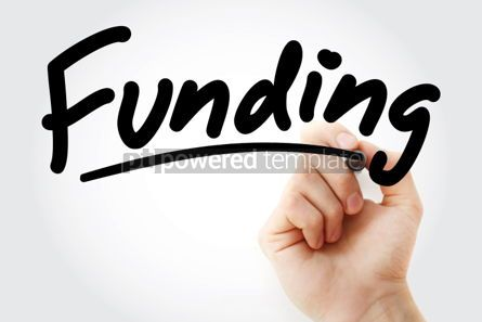 Business: Funding text with red marker #01344
