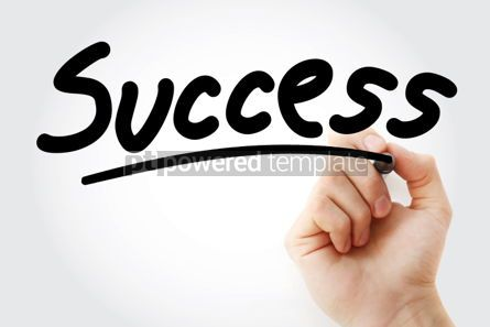 Business: Success text with marker #01347