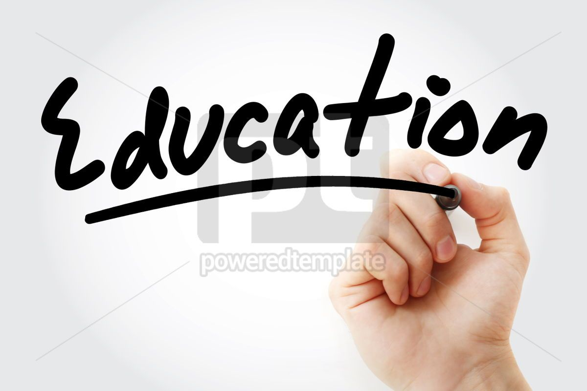 Education text with marker, 01350, Business — PoweredTemplate.com
