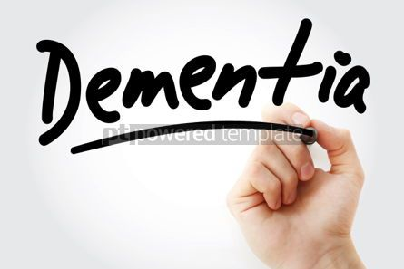 Business: Dementia text with marker #01351