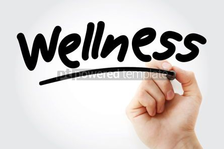 Business: Wellness text with marker #01352