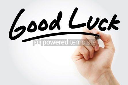 Business: Good Luck text with marker #01356