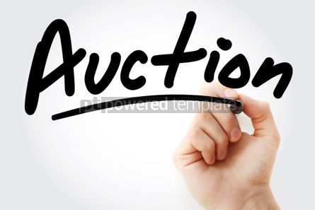 Business: Auction text with marker #01360