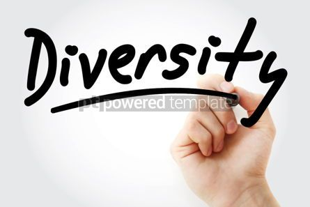 Business: Diversity text with marker #01361