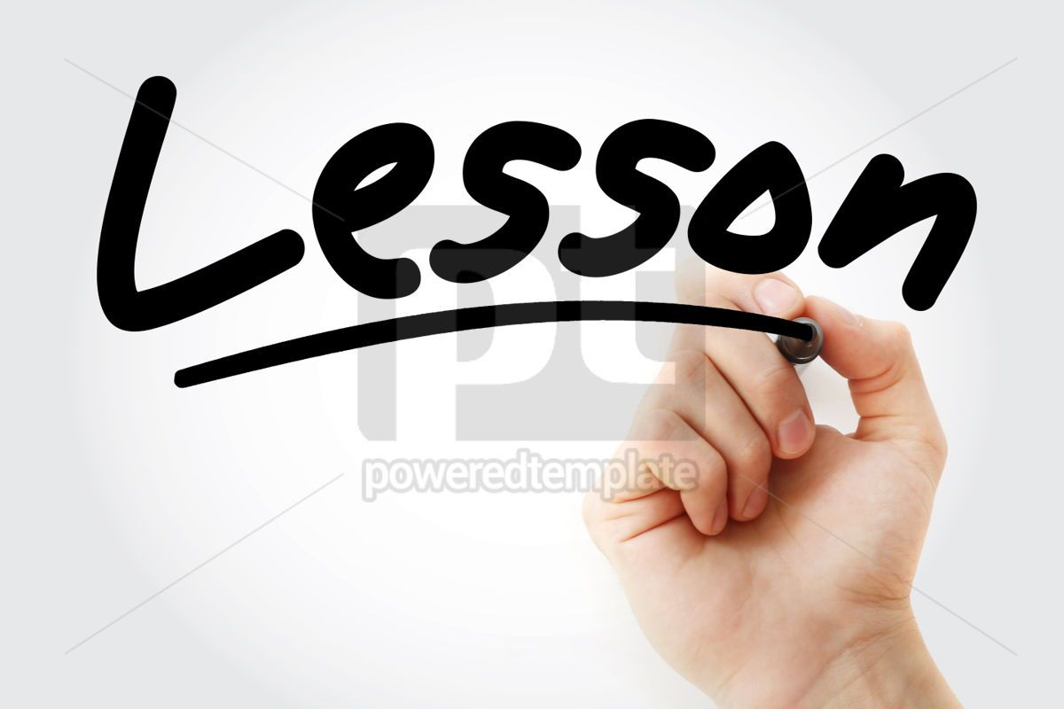 Lesson text with marker, 01362, Business — PoweredTemplate.com
