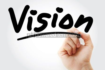 Business: Vision text with marker #01376