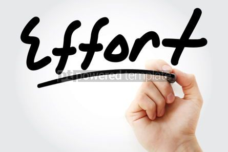 Business: Effort text with marker #01377
