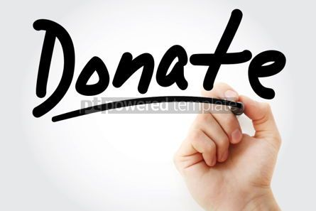 Business: Donate text with marker #01379