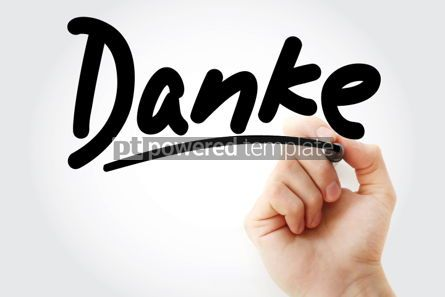 Business: Danke thank you in german text #01380