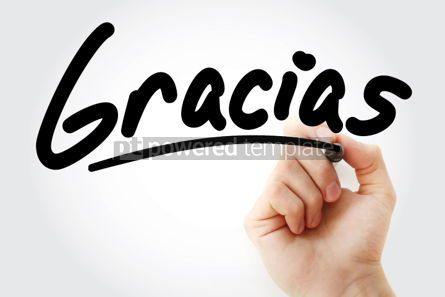 Business: Gracias thank you in spanish text #01381
