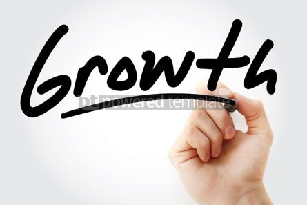 Business: Growth text with marker #01383