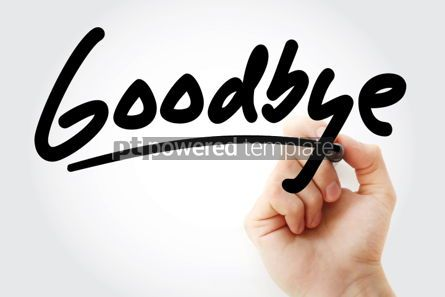 Business: Goodbye text with marker #01386