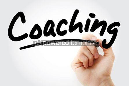 Business: Coaching text with marker #01391