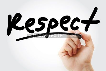 Business: Respect text with marker #01392