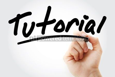 Business: Tutorial text with marker #01393