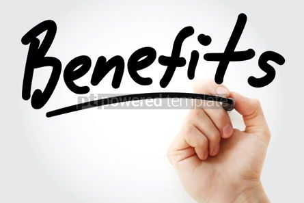 Business: Benefits text with marker #01399