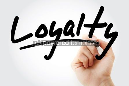Business: Loyalty text with marker #01405