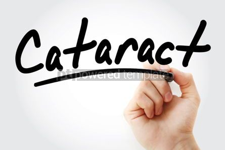 Business: Cataract text with marker #01412