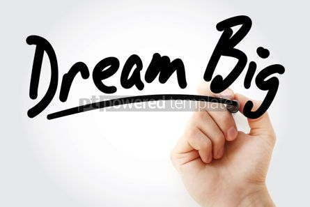 Business: Dream Big text with marker #01414