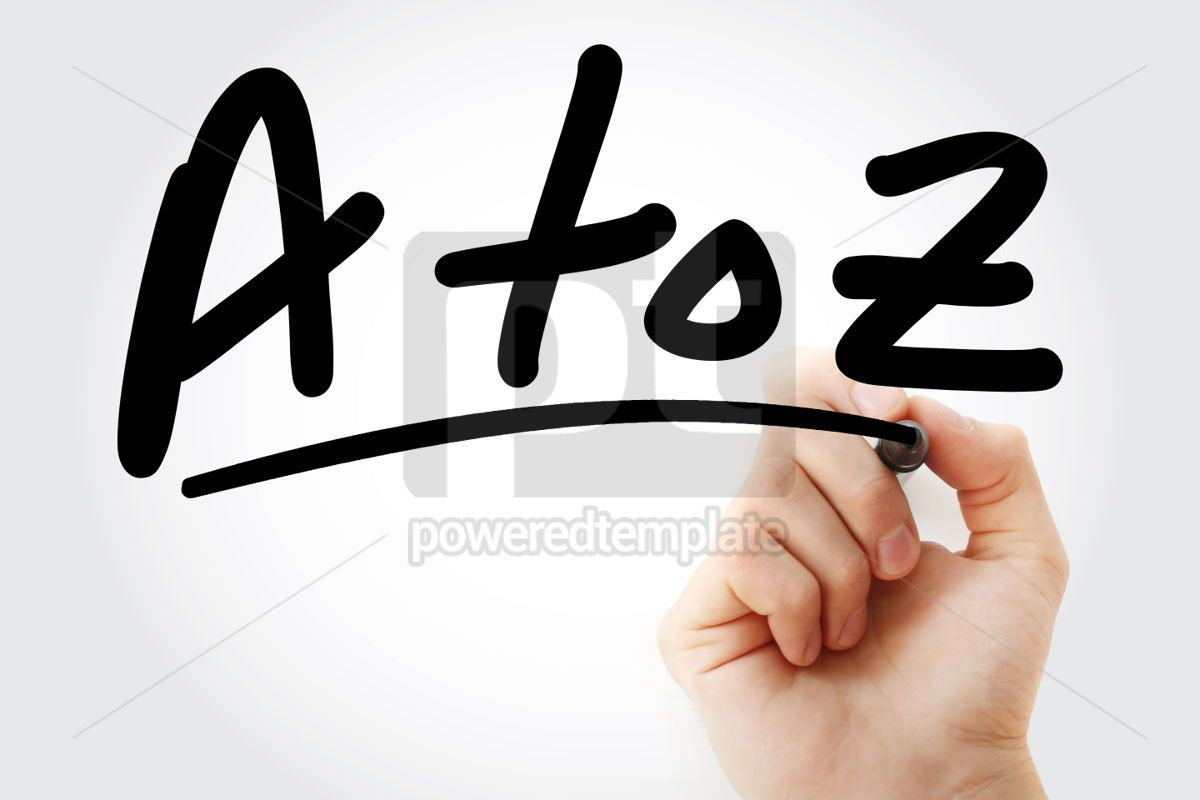 A to Z text with marker, 01415, Business — PoweredTemplate.com