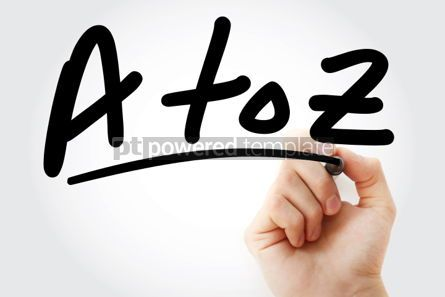 Business: A to Z text with marker #01415