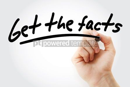 Business: Get the facts text with marker #01416