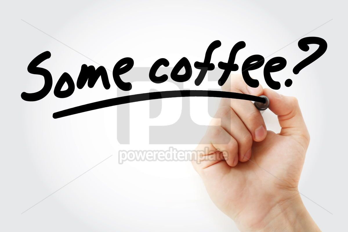 Some coffee text with marker, 01417, Business — PoweredTemplate.com