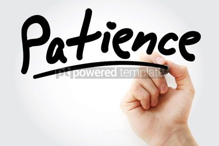Business: Patience text with marker #01418