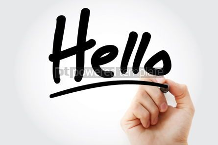 Business: Hello text with marker #01420