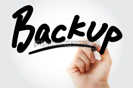 Business: Backup text with marker #01425