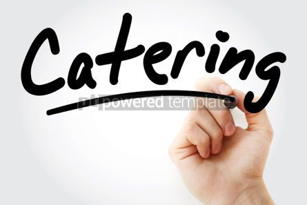 Business: Catering text with marker #01427