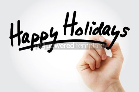 Business: Happy Holidays text with marker #01429