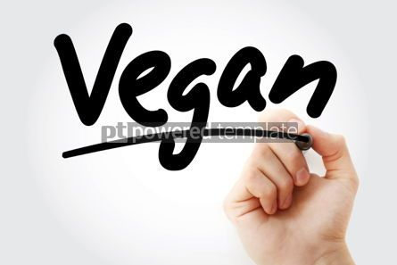 Business: Vegan text with marker #01431