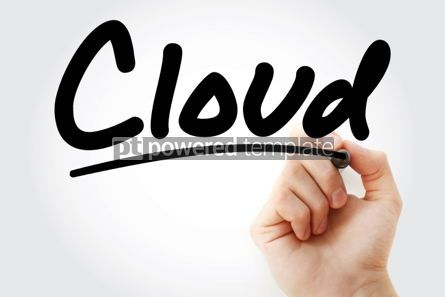 Business: Cloud text with marker #01432