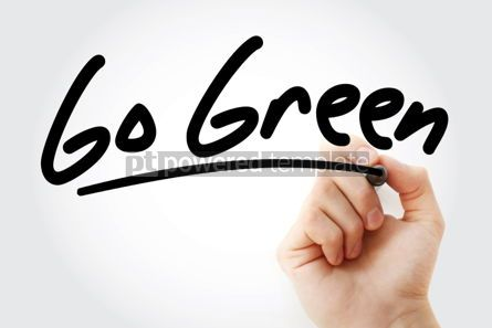 Business: Go Green text with marker #01436