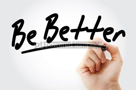 Business: Foto - seja melhor texto com marcador #01437