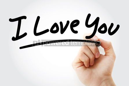 Business: I Love You text with marker #01438