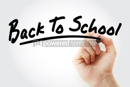 Business: Back to school text with marker #01439
