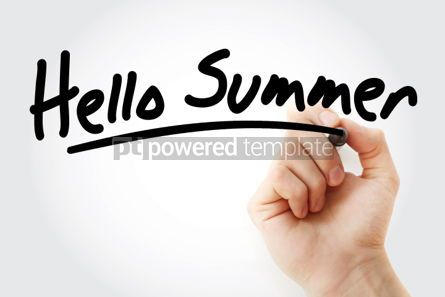Business: Hello Summer text with marker #01440