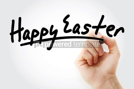 Business: Happy Easter text with marker #01441
