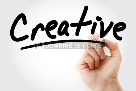 Business: Creative text with marker #01442