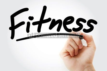 Business: Fitness text with marker #01443