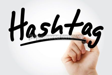 Business: Hashtag text with marker #01446