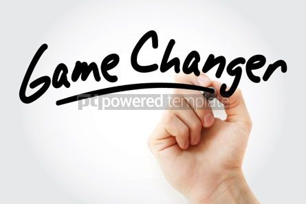 Business: Game Changer text with marker #01449