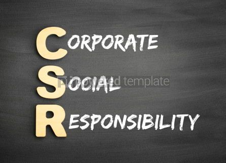 Business: Wooden alphabets building the word CSR #01455