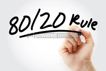 Business: 80 20 Rule text with marker #01458